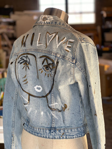 Chica Denim Jacket - Light Blue