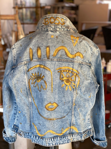 Chica Denim Jacket - True Blue