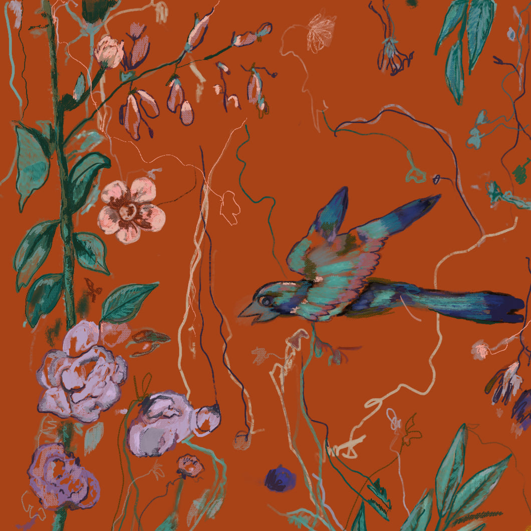Birds of a Feather Orange — Wallpaper
