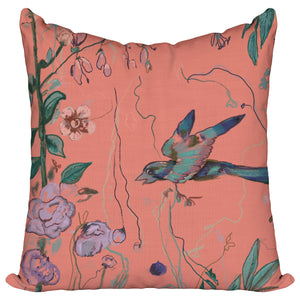 Birds of a Feather Coral - Pillow Cover