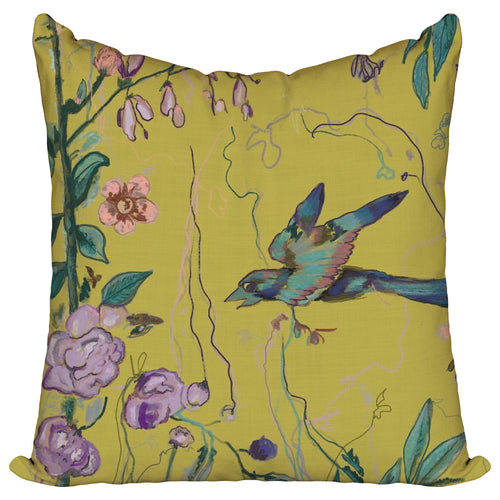 Birds of a Feather Lime — Pillow Cover