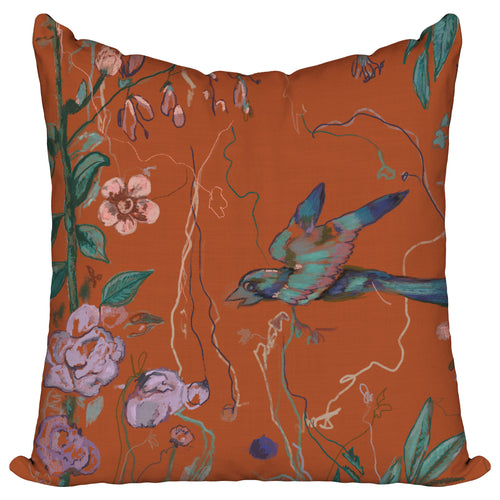 Birds of a Feather Orange — Pillow Cover
