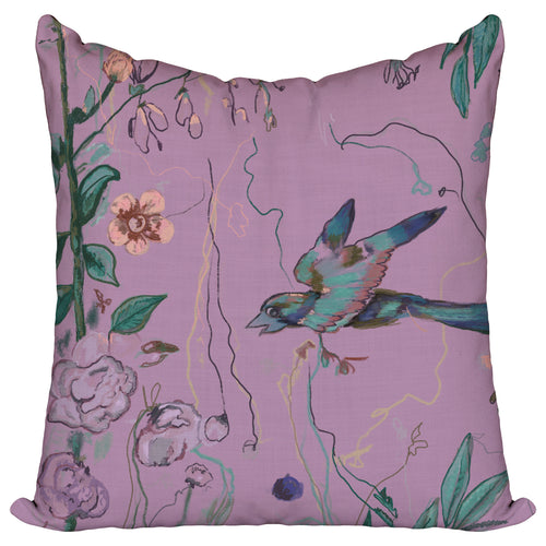 Birds of a Feather Purple - Pillow Cover