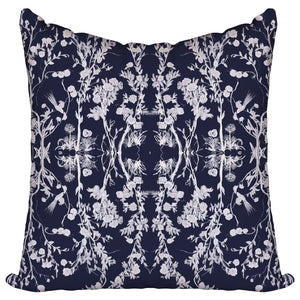Cherry Blossom Navy - Pillow Cover