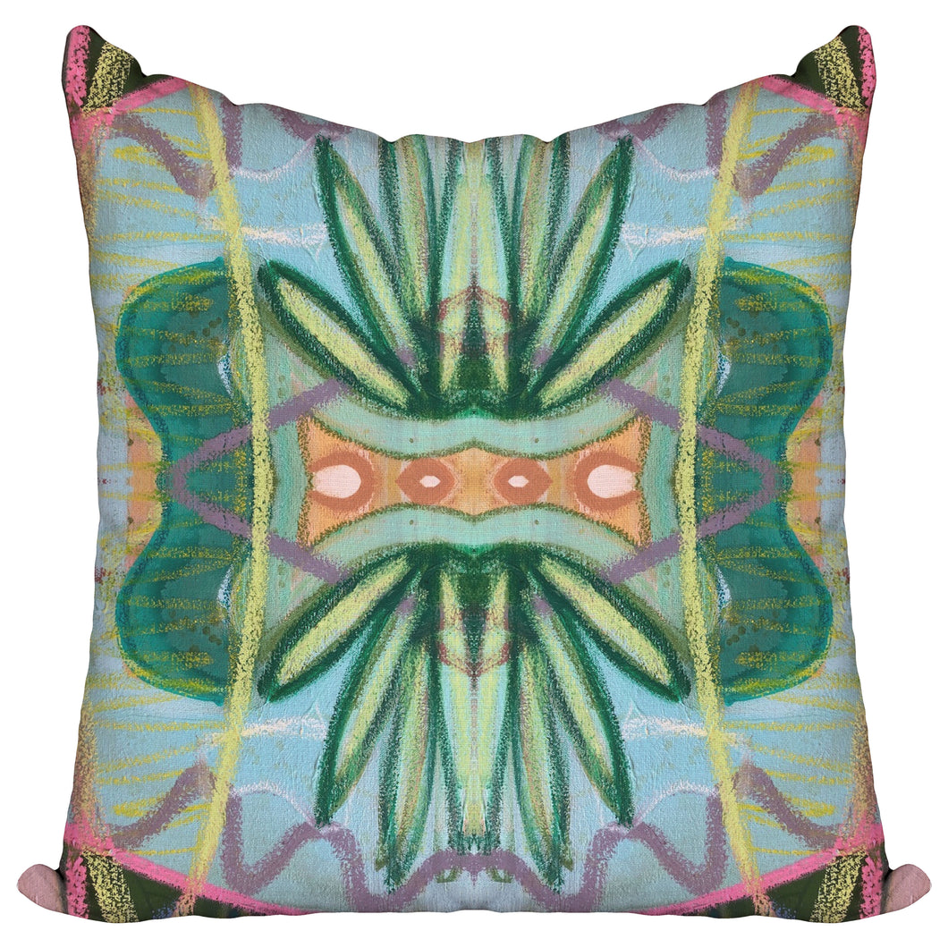 Ferns in Aqua — Pillow Cover