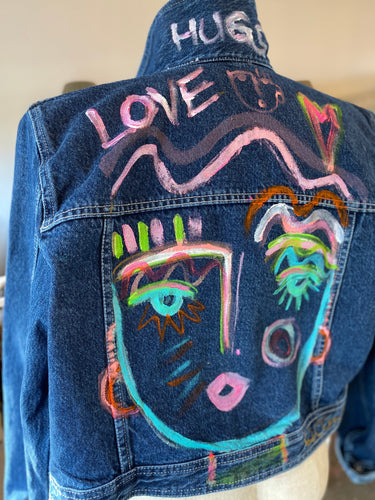 Chica Denim Jacket - Dark Blue