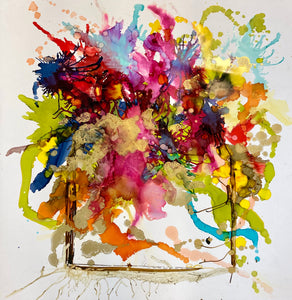 Flower Bombing - Original Art