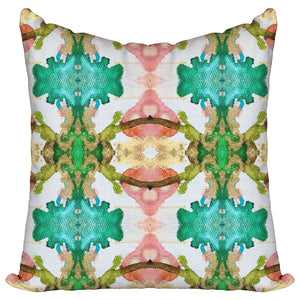 Rose Quartz & Emerald — Pillow Cover