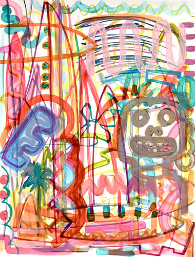 Tiki Torch on paper - Original Art