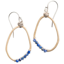 Load image into Gallery viewer, Freeform Gemstone Wrapped Earrings