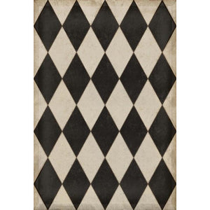 """Williamsburg Diamond"" Vinyl Floor Mat, 3'2"" x 4'8"""