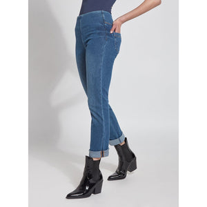 Boyfriend Jean Legging - Midwash Denim