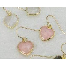 Load image into Gallery viewer, Pink Opal Heart Earring