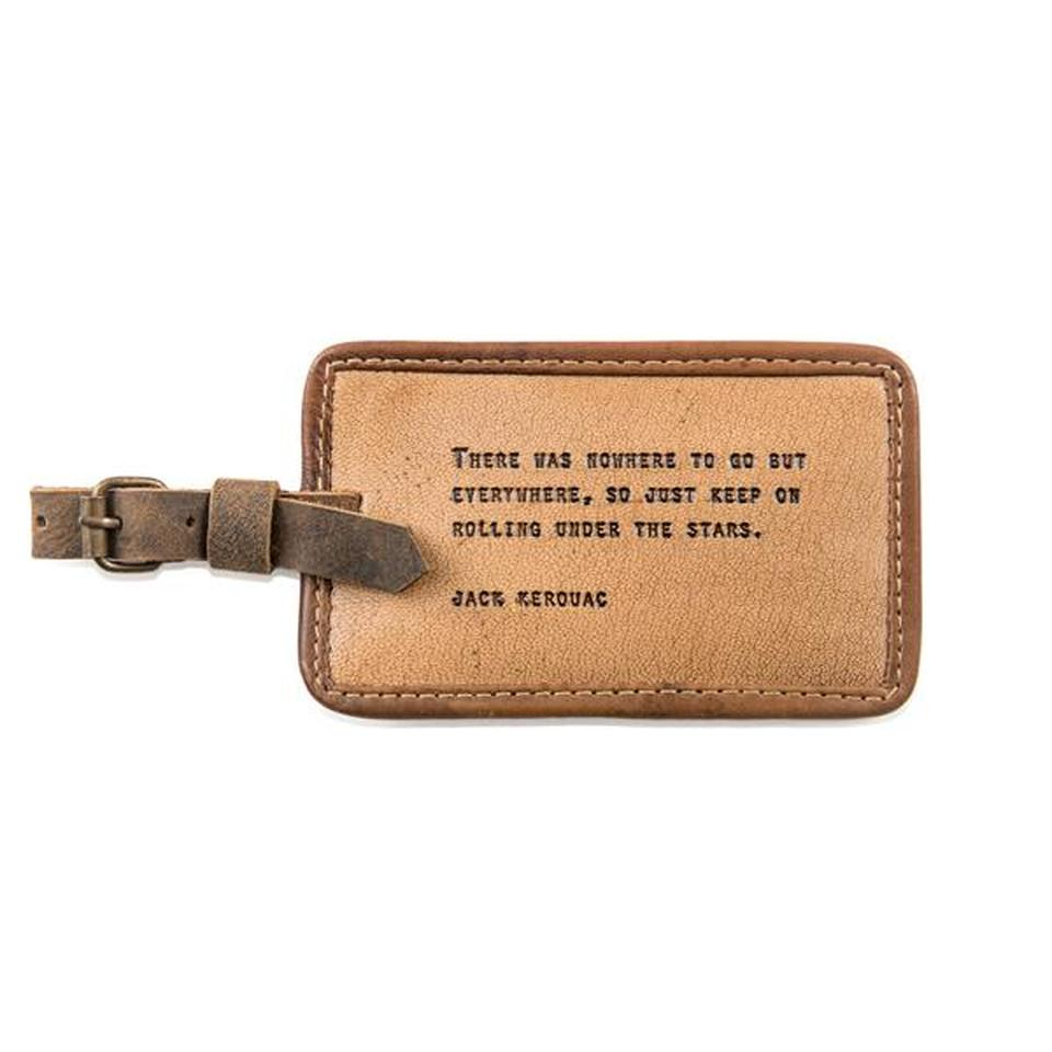 Leather Quote Luggage Tags