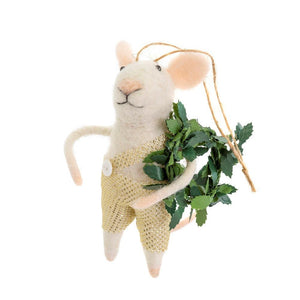 Felt Mouse Ornament - Assorted Styles