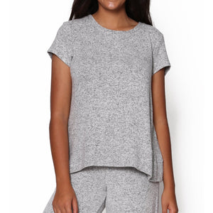 Cozy Loungewear Set, Shorts (Blue or Grey)