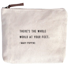 Load image into Gallery viewer, Canvas Quote Cosmetic Bag (assorted quotes)