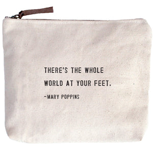 Canvas Quote Cosmetic Bag (assorted quotes)