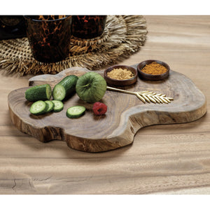 Bali Teak Serving Board with Condiment Bowls