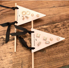 Load image into Gallery viewer, Petite Earring Pennant Trio
