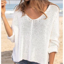 Load image into Gallery viewer, Maui V-Neck Cotton Sweater