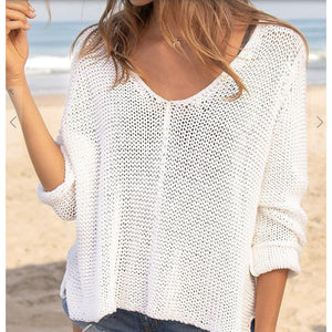Maui V-Neck Cotton Sweater