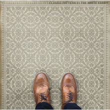 "Load image into Gallery viewer, ""The White Rabbit"" Vinyl Floor Mat, 3'2"" x 4'8"""