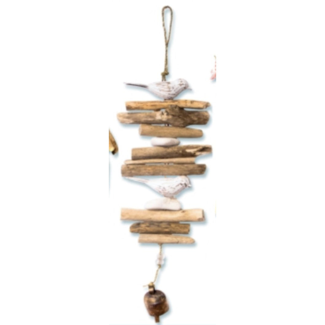 Double Bird Driftwood Wind Chime