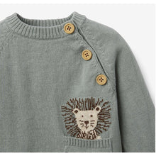 Load image into Gallery viewer, Lion Knit Sweater & Pant Baby Gift Set