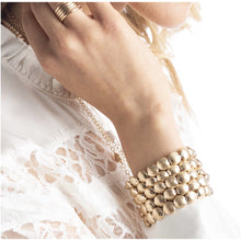 Load image into Gallery viewer, Honesty Gold Bead Bracelet