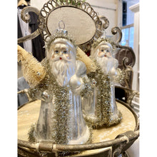 Load image into Gallery viewer, Silver Santa Ornament