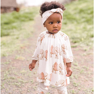 Long Sleeve Dress & Legging Set, Tutu Elephant