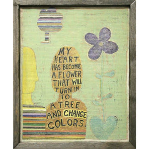 """My Heart Has Become A Flower""  Wall Art"