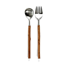 Load image into Gallery viewer, Rosewood Salad Servers