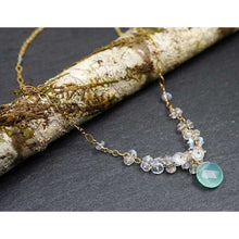 Load image into Gallery viewer, Moonstone & Chalcedony Necklace
