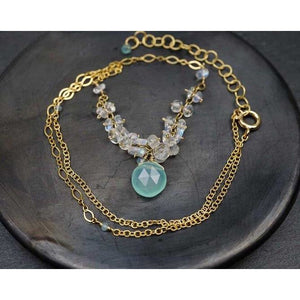 Moonstone & Chalcedony Necklace