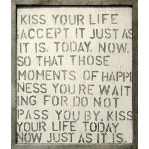 Kiss Your Life Wall Art