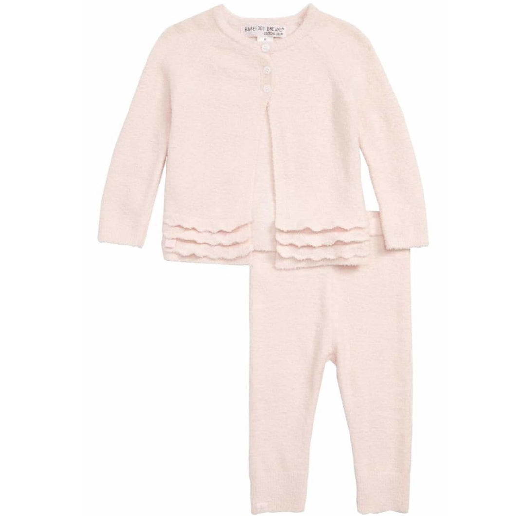 CozyChic Lite Heirloom Cardi And Pant Set (Pink or Blue)