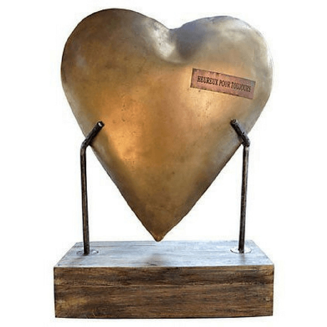 Heart Sculpture on Base