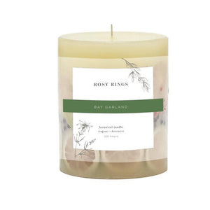 Bay Garland Botanical Candle, Small