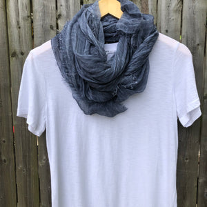 Tissue Denim Scarf