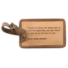Load image into Gallery viewer, Leather Quote Luggage Tags