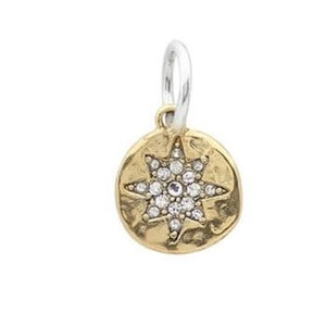 Illuminations Charm - Compass Rose, Brass