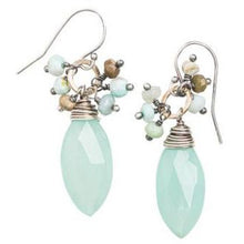Load image into Gallery viewer, Chalcedony Earrings with Gemstone Accents
