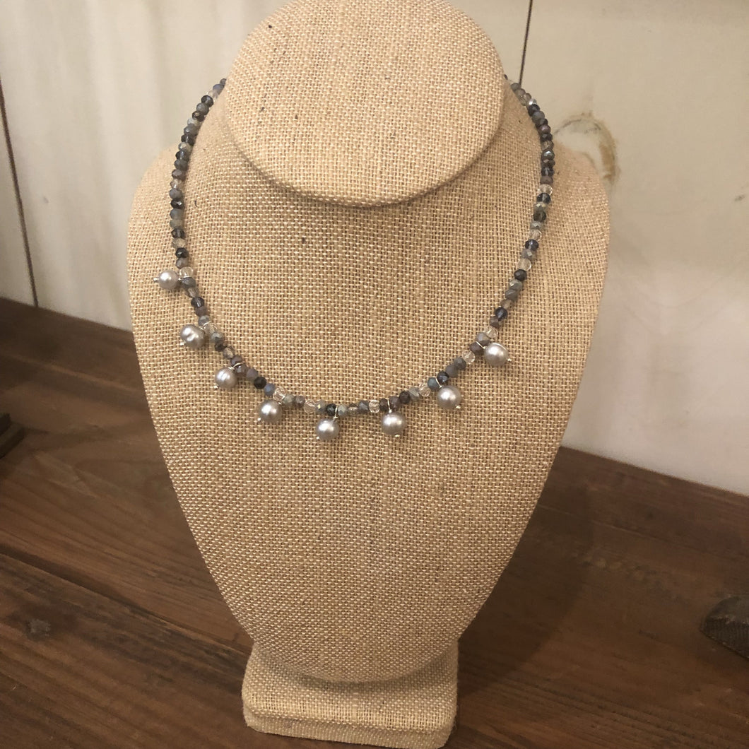 Sophia Pearl Drop Necklace
