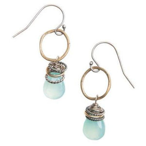 Full Circle Earrings (Labradorite or Moonstone)
