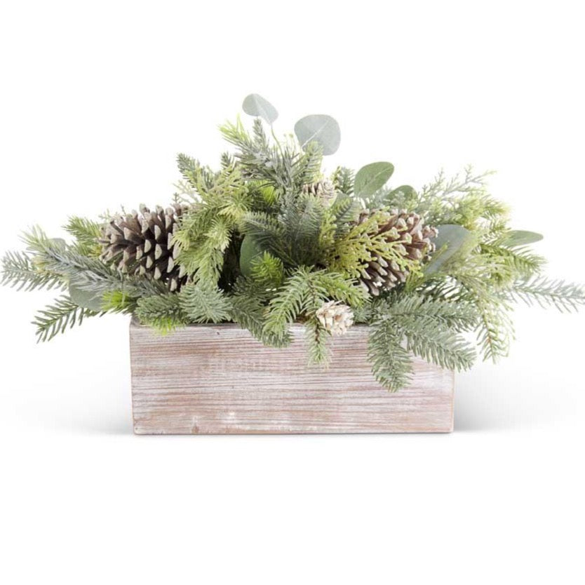 Frosted Fir Pine and Eucalyptus Floral