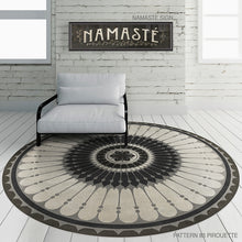 "Load image into Gallery viewer, ""Pirouette"" Vinyl Floor Mat, 48"" Round"