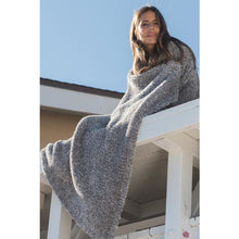 Load image into Gallery viewer, CozyChic Heathered Throw (in Graphite, Dove Grey or Stone)