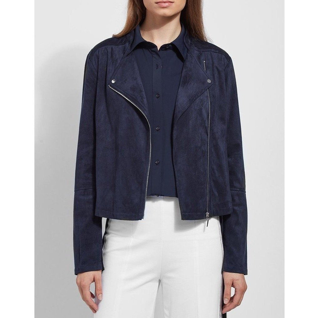 Essential Vegan Suede Jacket, Navy